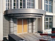 Architekt Lehmann Art-Deco House Bauphase 1 5 Streamline-Element Vordach Eingangsbereich Tuerdesign
