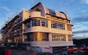 Architekt Lehmann Art-Deco House Bauphase 1 4 Fassade Rueckseite