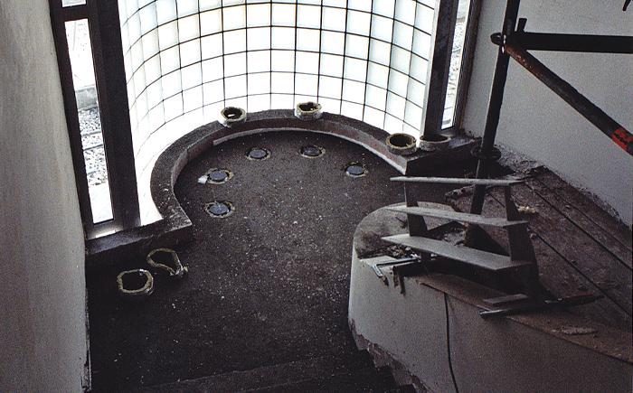 Architekt Lehmann Art Deco House Bauphase 1 3 Glasbausteine Treppenhaus  Stahlgelaender